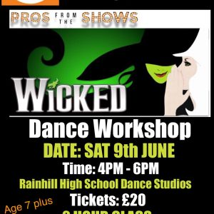 Book Tickets for Wicked Dance Workshop with West End Pro from Pros from the Shows