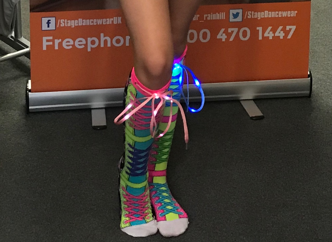 MADMIA LED flashing disco socks